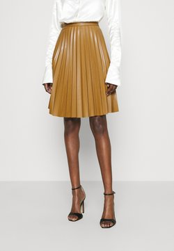 Closet - CLOSET MINI PLEATED SKIRT - Mini skirt - tan