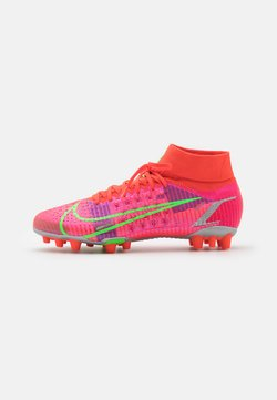 Nike Performance - MERCURIAL 8 PRO AG - Moulded stud football boots - bright crimson/metallic silver