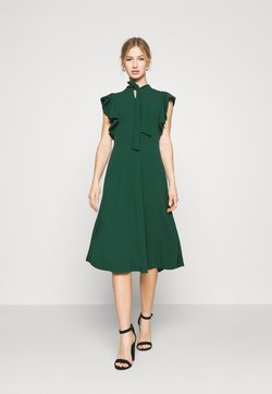 WAL G. - RUFFLE SLEEVE DRESS - Cocktail dress / Party dress - forest green