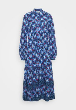 Marks & Spencer London - BOARDER SHIRTDRESS - Maxikleid - blue