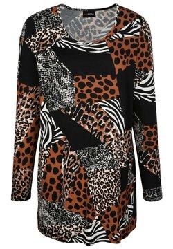 MIAMODA - Langarmshirt - schwarz braun