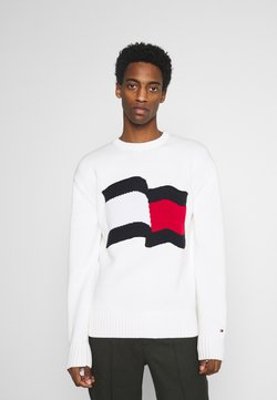 Tommy Hilfiger - BIG GRAPHIC SWEATER - Strickpullover - ivory