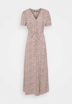 Missguided Tall - HALF BUTTON TEA DRESS - Maxikleid - blush
