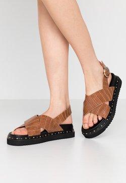 Office - SUPERNOVA - Korkeakorkoiset sandaalit - tan