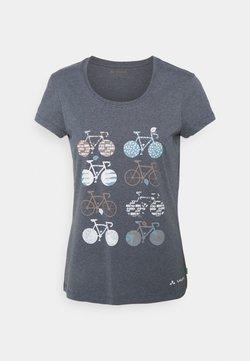 Vaude - WOMEN'S CYCLIST - T-Shirt print - steelblue