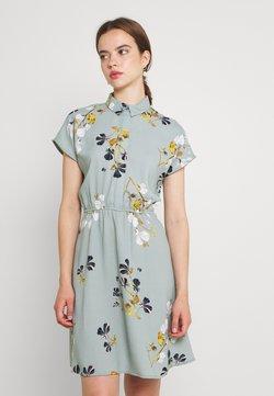 Vero Moda - VMHALLIE TIE SHORT DRESS - Abito a camicia - green milieu/hallie