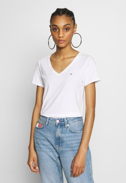 Tommy Jeans - SHORTSLEEVE STRETCH TEE - T-Shirt basic - white