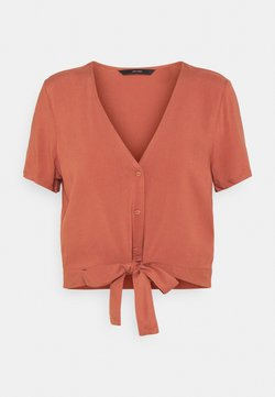 Vero Moda - VMSIMPLY EASY TIE  - T-shirt con stampa - marsala
