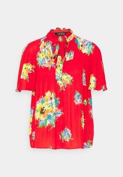 Lauren Ralph Lauren - SLEEVE SHIRT - Bluse - bright hibiscus/multi