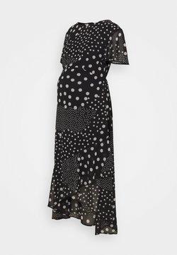 Dorothy Perkins Maternity - MATERNITY HI LO HEM SPOT DRESS - Jerseykleid - black