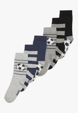 Ewers - FUSSBALL RINGEL 6 PACK  - Socken - schwarz/tinte