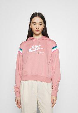 Nike Sportswear - HOODIE - Kapuzenpullover - rust pink/white