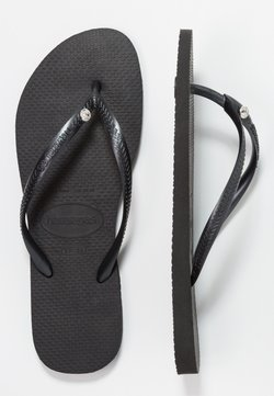 Havaianas - SLIM FIT CRYSTAL GLAMOUR - Bade-Zehentrenner - black