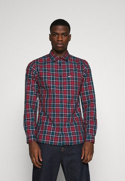 Tommy Jeans - FADED CHECKS  - Vapaa-ajan kauluspaita - twilight navy/multi