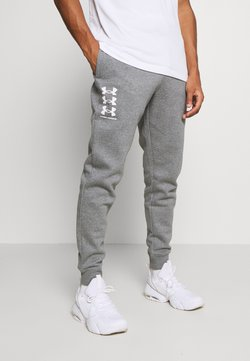 Under Armour - RIVAL MULTILOGO - Jogginghose - pitch gray light heather