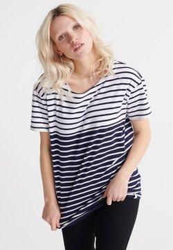 Superdry - BRETON  - T-Shirt print - navy stripe