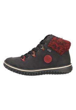 Rieker - Lace-up ankle boots - black/wine