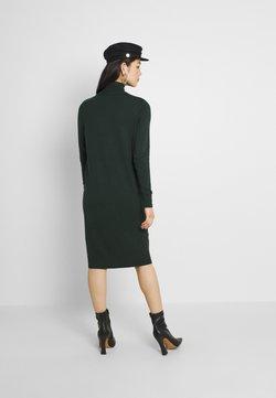 Vila - VIJENEVE ROLLNECK DRESS - Stickad klänning - darkest spruce