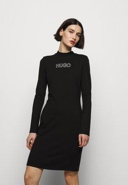 HUGO - DASSY - Jerseykjoler - black