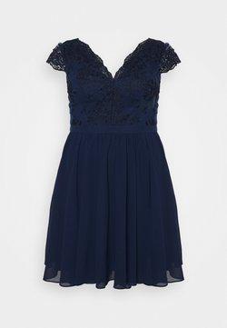 Chi Chi London Curvy - JOHANNA DRESS - Sukienka koktajlowa - navy