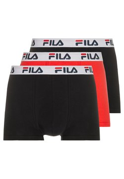 Fila - 3 PACK TRUNK - Shorty - red/black