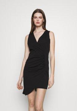 WAL G. - OVERLAY SKIRT DRESS - Etuikjole - black