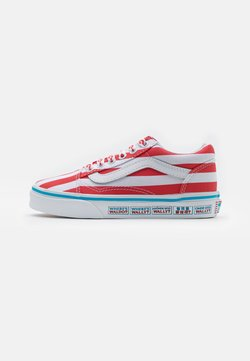 Vans - OLD SKOOL UNISEX - Sneaker low - red/white