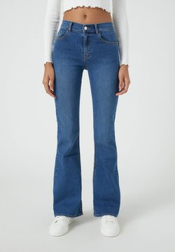 PULL&BEAR - Jean bootcut - mottled blue