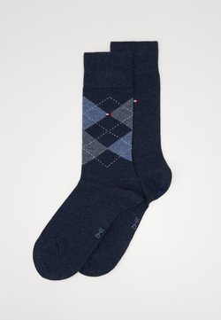 Tommy Hilfiger - MEN SOCK CHECK 2 PACK - Socken - jeans
