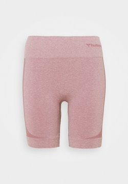 Hummel - SEAMLESS SHORTS - Tights - dusky orchid melange