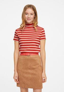 comma - T-Shirt print - beige knit