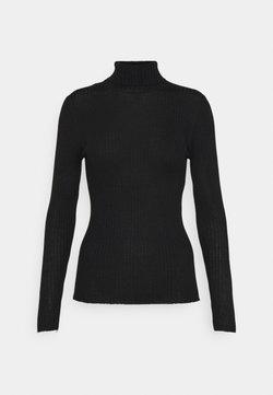 Selected Femme Petite - SLFCOSTINA ROLLNECK - Strickpullover - black
