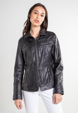 7eleven - Leren jas - black