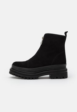 Bianco - BIADICY ZIPPER BOOT - Plateaustiefelette - black