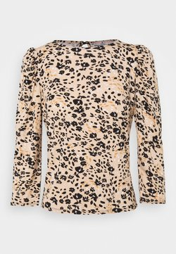Dorothy Perkins Petite - BILLIE AND BLOSSOM FLORAL PUFF SLEEVE - Bluse - camel