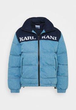 Karl Kani - RETRO BLOCK PUFFER JACKET  - Winterjacke - blue