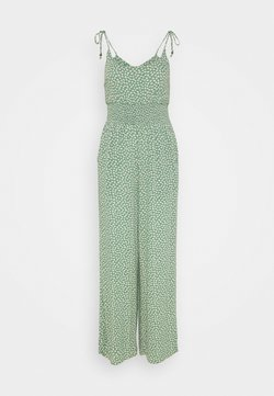 American Eagle - DOUBLE TIE CINCHED - Jumpsuit - green