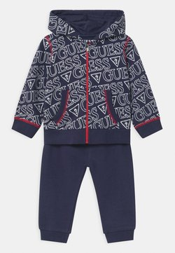 Guess - HOODED ACTIVE BABY SET  - Survêtement - dark blue
