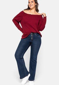Sheego - Jeans bootcut - dark blue denim