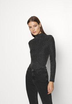 Who What Wear - RUCHED TURTLENECK - Langarmshirt - black