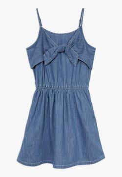 Abercrombie & Fitch - TIE FRONT DRESS  - Freizeitkleid - blue