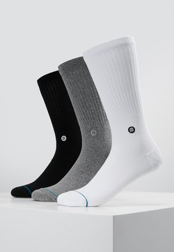 Stance - ICON 3 PACK - Chaussettes - white/grey/black