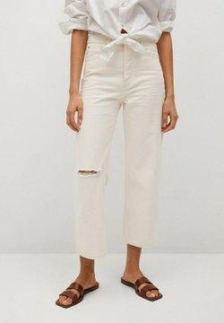 Mango - GABRIELA - Jeans straight leg - ecru