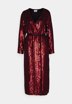MANÉ - OCASO DRESS - Vestido de cóctel - black/red