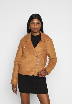 ONLY Petite - ONLASHA BIKER - Chaqueta fina - toasted coconut