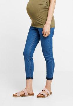 Dorothy Perkins Maternity - OVER BUMP HARPER CROP - Slim fit jeans - bright blue