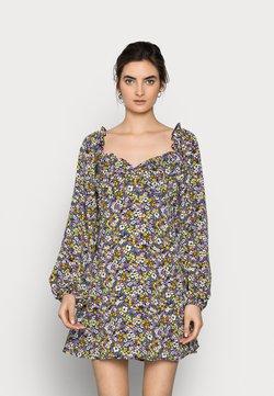 Missguided Tall - MILKMAID SKATER DRESS FLORAL - Freizeitkleid - purple
