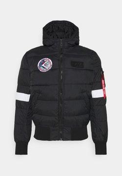 Alpha Industries - HOODED PUFFER NASA - Winterjacke - black