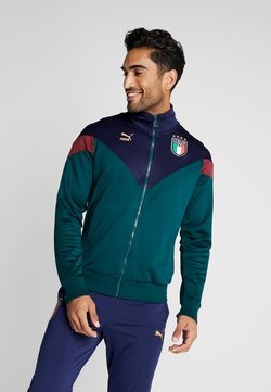 Puma - ITALIEN FIGC ICONIC MCS  - Trainingsjacke - ponderosa pine/peacoat