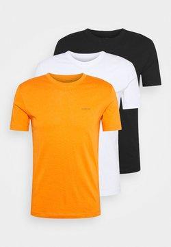Calvin Klein Jeans - 3 PACK TEE - T-shirt basic - orange/black/white